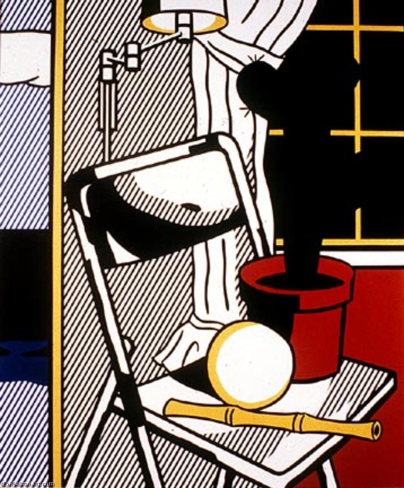Interior with cactus by Roy Lichtenstein (1923-1997, United States) | Art Reproduction | ArtsDot.com