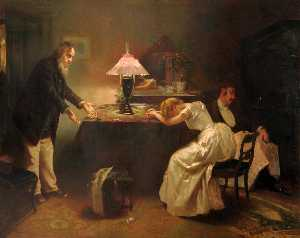 Alexander Mark Rossi - Interior Scene with Figures