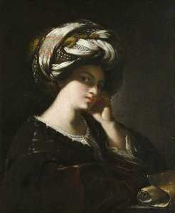 Francesco Del Cairo - Girl with a Large Turban ..