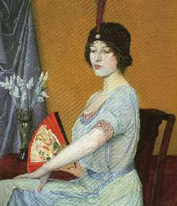 William Strang - The Japanese Fan