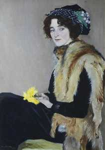 William Strang - Girl with a Fur Cape