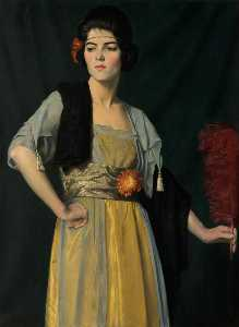 William Strang - The Feather Fan