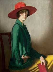 William Strang - Lady with a Red Hat