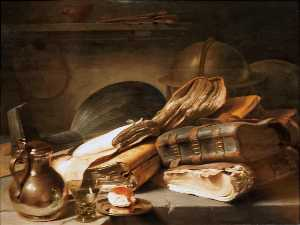 Jan Andrea Lievens - Still Life with Books