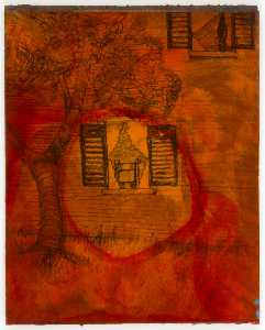 Joseph Cornell - Untitled (house and tree,..