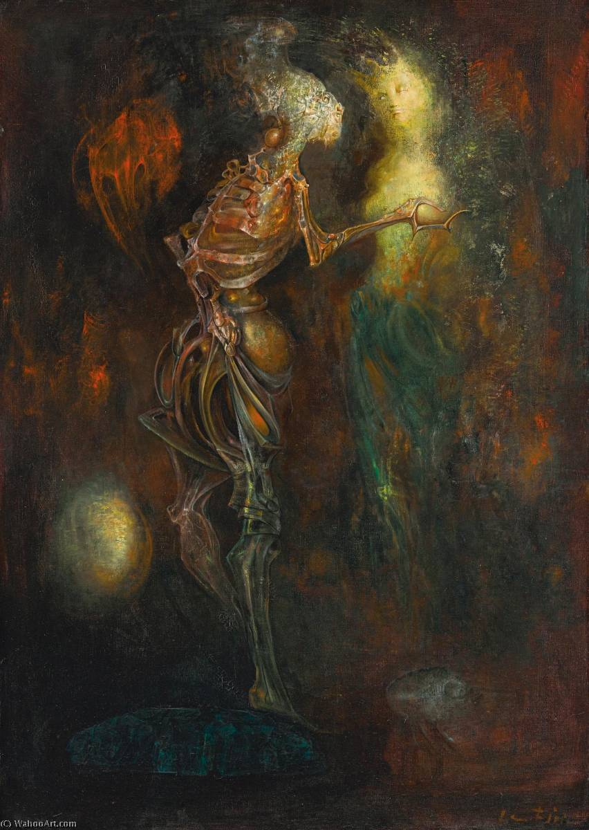 L`Amour sans condition, 1958 by Leonor Fini (1908-1996, Argentina) | Painting Copy | ArtsDot.com