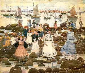 Maurice Brazil Prendergast - Low Tide, Beachmont