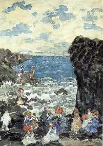 Maurice Brazil Prendergast - Holiday, Headlands