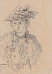 Adolph Menzel - Woman with Hat