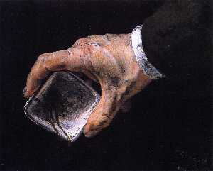 Adolph Menzel - Hand Holding a Paint Dish