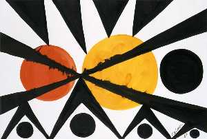 Alexander Milne Calder - Across the Orange Moons