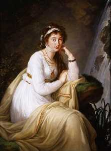 Elisabeth-Louise Vigée-Le.. - Portrait of Princess Anna..