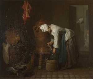 Jean-Baptiste Simeon Chardin - La Fontaine (also known as The Water Cistern)