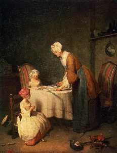 Jean-Baptiste Simeon Chardin - The Prayer before Meal