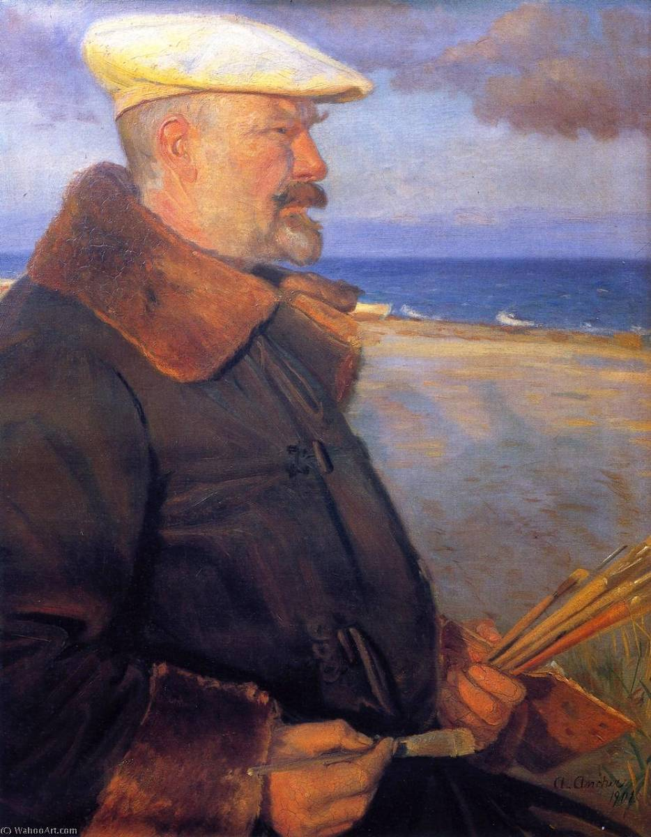 Michael Ancher, 1901 by Anna Kirstine Ancher (1859-1935, Denmark) | Museum Quality Reproductions | ArtsDot.com