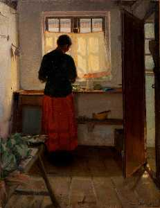 Anna Kirstine Ancher - Girl in the Kitchen