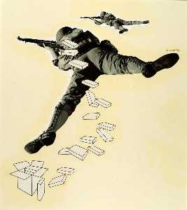 Herbert Matter - Paperboard Fills the Soldier-s Pack , from the Early Series