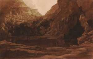 James Francis Danby - A Mountain Pool and Cave