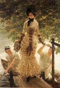 James Jacques Joseph Tissot - English On the Thames