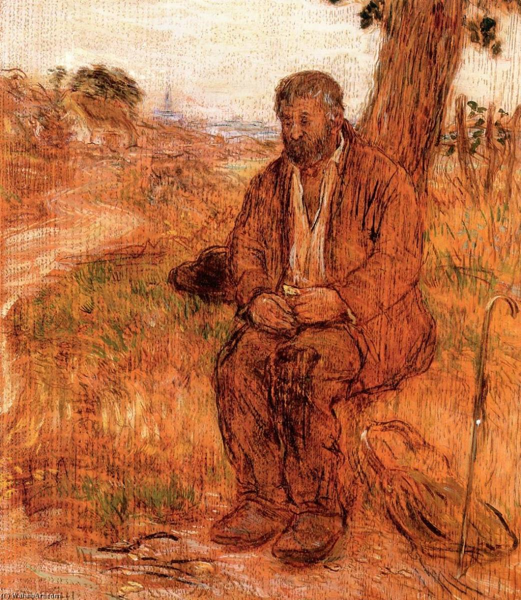 The Itinerant Workman, 1880 by Jean-François Raffaelli (1850-1924, France) | Painting Copy | ArtsDot.com