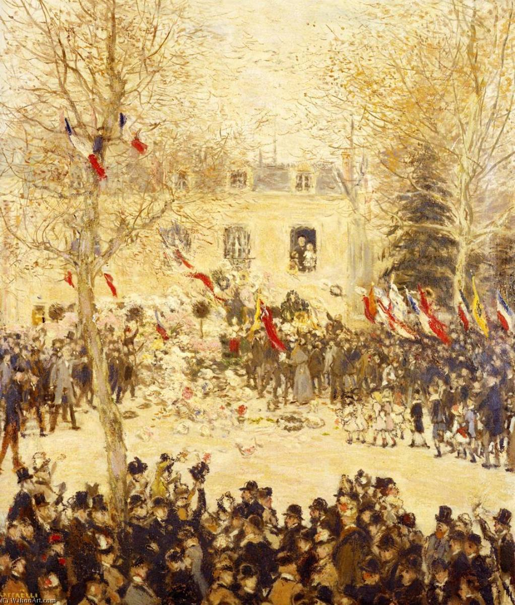 The Festival for the 80th Birthday of the Poete, 1902 by Jean-François Raffaelli (1850-1924, France) | Museum Quality Reproductions | ArtsDot.com