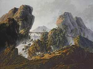 Jean Baptiste Pillement - Mountainous Landscape