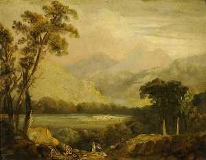 John Crome - Landscape with a River