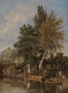 John Crome - Boys Bathing on the River Wensum, Norwich