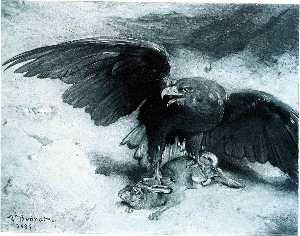 Léon Joseph Florentin Bonnat - Eagle and Rabbit
