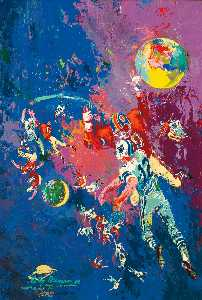 Leroy Neiman - Football Star Constellation