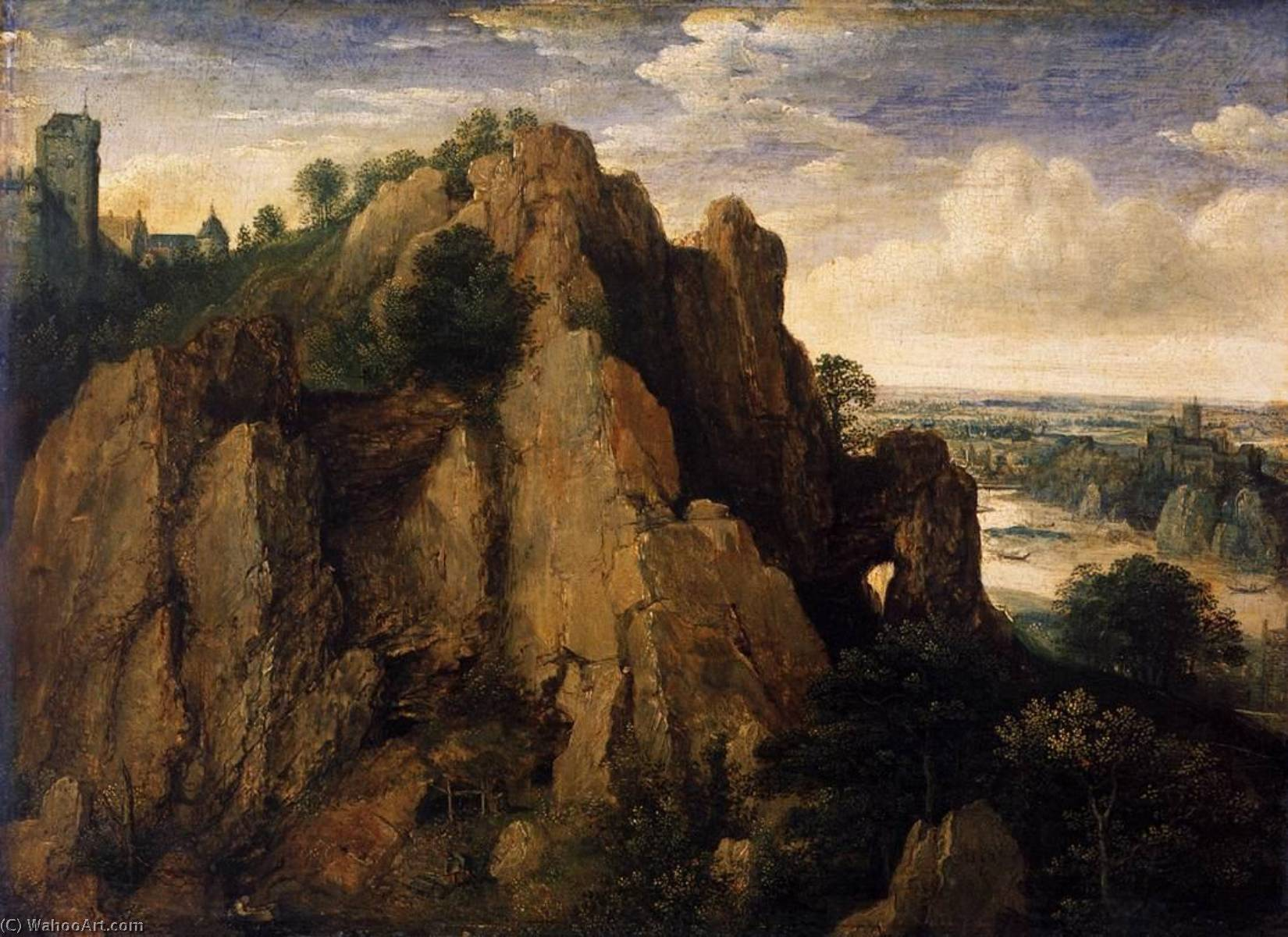 Mountainous Landscape, 1582 by Lucas Van Valckenborch I (1535-1597) | Museum Quality Copies Lucas Van Valckenborch I | ArtsDot.com