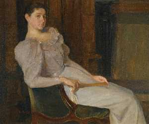Per Krohg - girl in white
