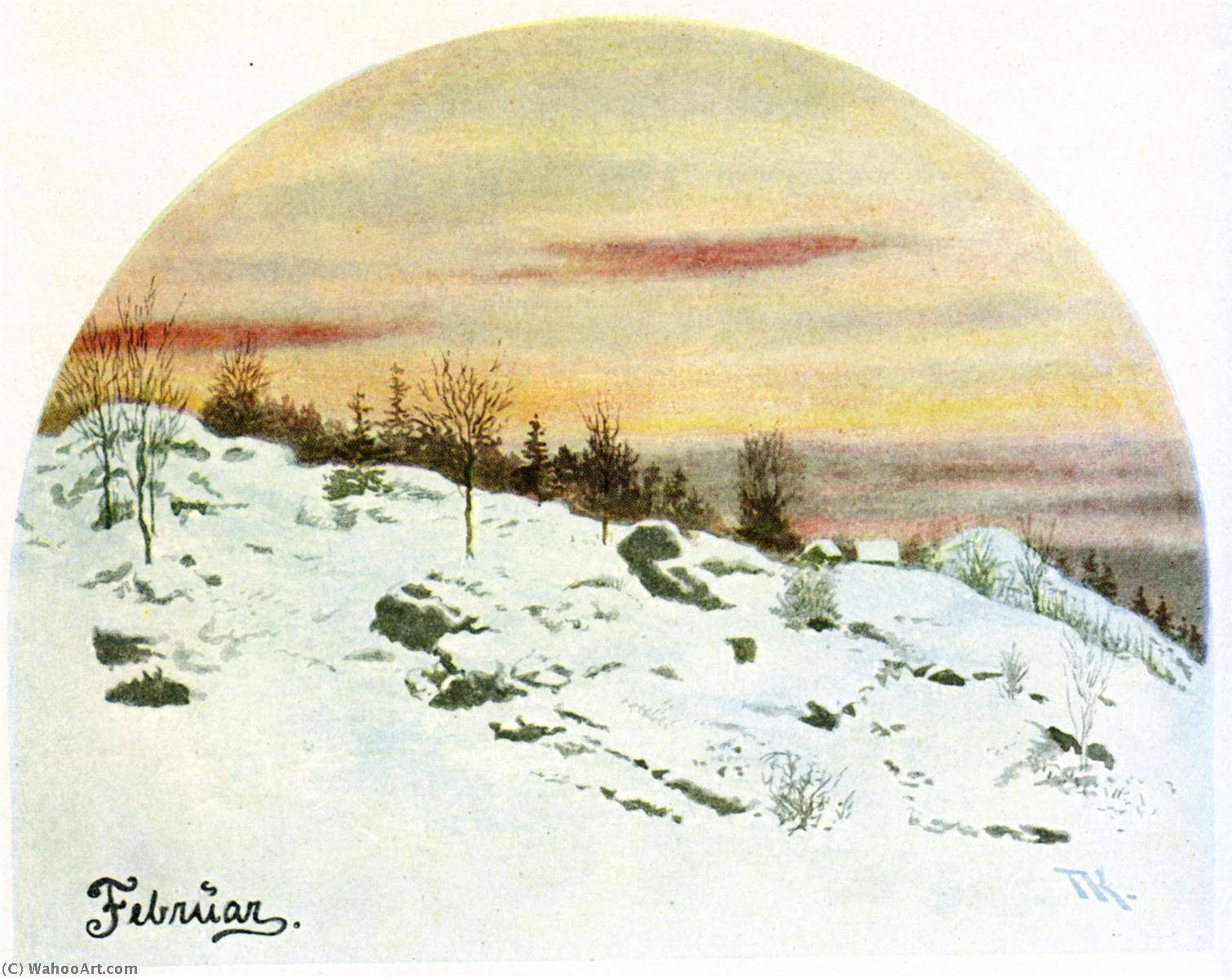 February, 1890 by Theodor Kittelsen (1857-1914) | Museum Quality Reproductions | ArtsDot.com
