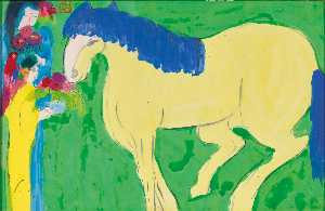 Walasse Ting - Beauty with Horse