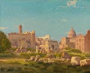 Henri-Joseph Harpignies - The Roman Forum