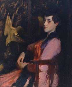 Edmund Charles Tarbell - Lady in Pink