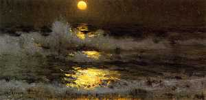 Frank Weston Benson - Moonlight (also known as Moonlight on the Waters)