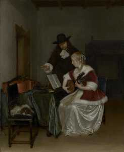 Gerard Ter Borch The Younger - The Music Lesson
