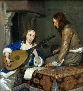 Gerard Ter Borch The Younger - The Lute Player
