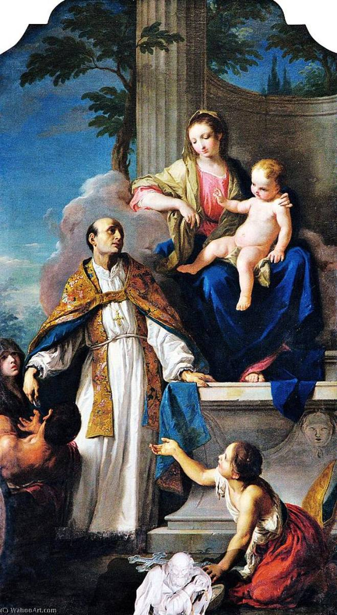 Madonna and Child with Saint Thomas of Villanova, 1768 by Giambettino Cignaroli (1706-1770, Italy) | Paintings Reproductions Giambettino Cignaroli | ArtsDot.com