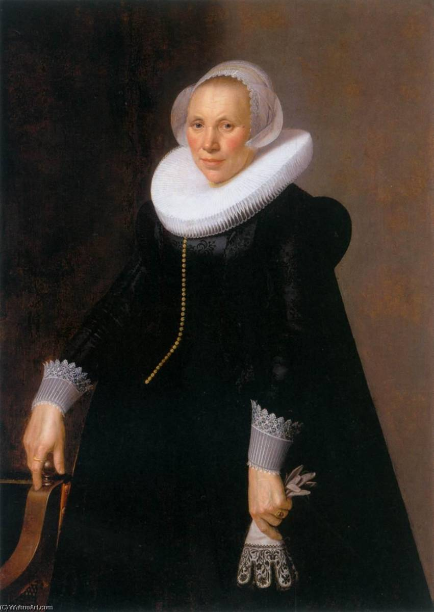 Portrait of a Woman, 1626 by Nicolaes Eliasz Pickenoy (1588-1650, Netherlands) | Painting Copy | ArtsDot.com