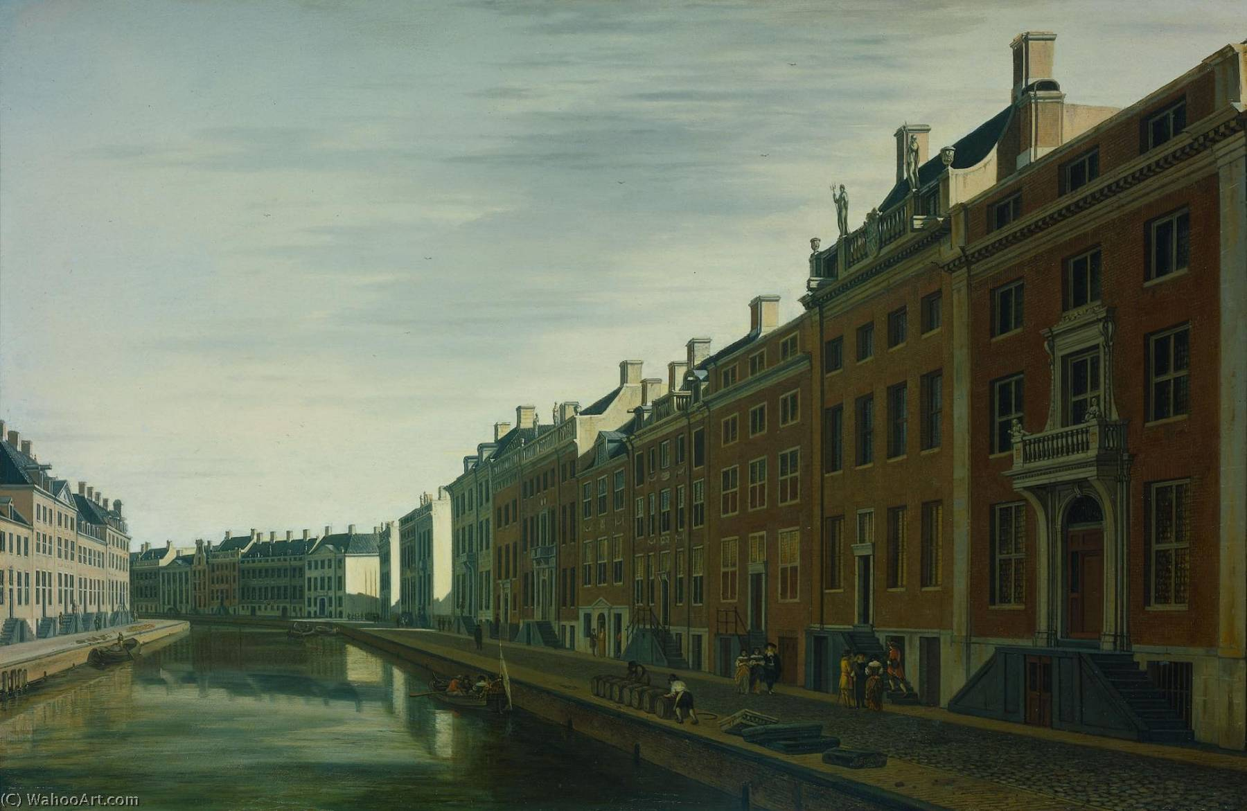 The Golden Bend in the Herengracht, Amsterdam, Seen from the West, 1672 by Gerrit Adriaenszoon Berckheyde (1638-1698) | Museum Art Reproductions | ArtsDot.com