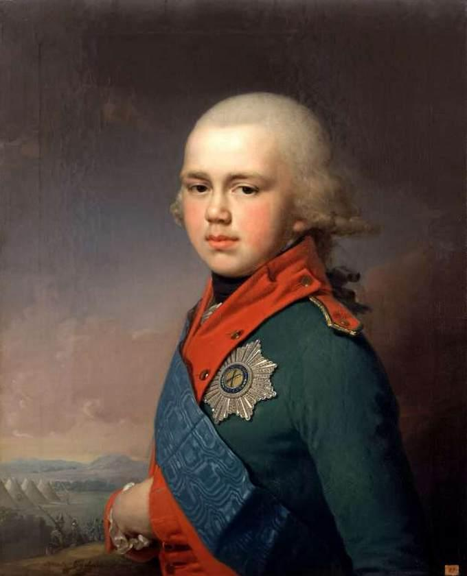 Portrait of Grand Prince Konstantin Pavlovich, 1795 by Vladimir Lukich Borovikovsky (1757-1825) | Art Reproduction | ArtsDot.com