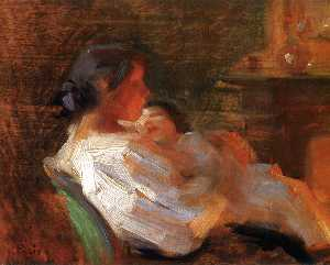 Laura Muntz Lyall - Mother and Child