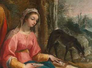 Guiseppe Cesari Dit Le Cavalier D-arpin - Rest on the Flight into Egypt (detail)