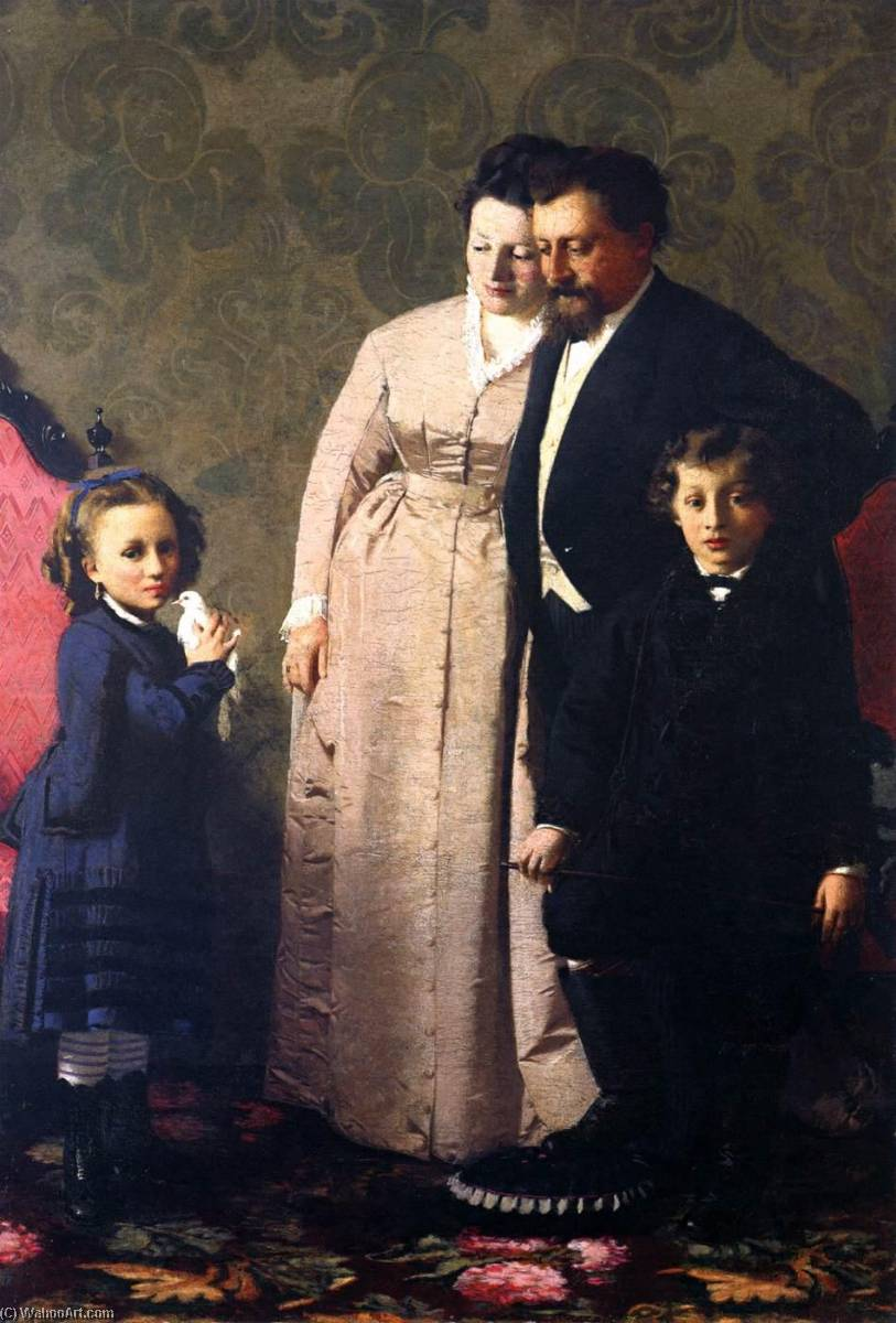 The Guidini Family, 1873 by Giacomo Favretto (1849-1887) | Reproductions Giacomo Favretto | ArtsDot.com