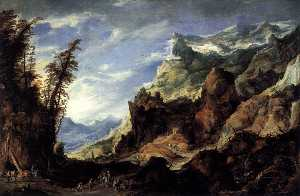 Joos De Momper The Younger - Large Mountain Landscape
