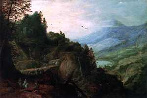 Joos De Momper The Younger - Landscape with a Mountian Pass