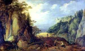 Joos De Momper The Younger - Landscape in the Mountains