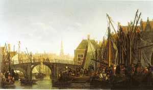 Abraham Pietersz Van Calraet - Dordrecht with the Apple Market and the Oude Haven